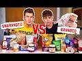 BROTHERS PLAY BLINDFOLDED BRANDED VS UNBRANDED FOODS (£1,000 PRIZE MONEY)