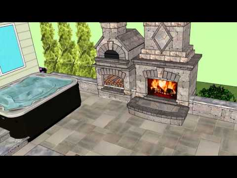 Smith Residence w/ Fireplace pizza oven combo