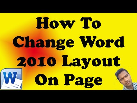 How To Change Word 2010 Layout On Page