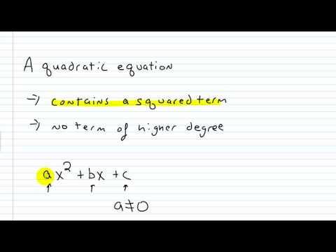 Algebra I Help: Writing a Quadratic Equation in Standard Form