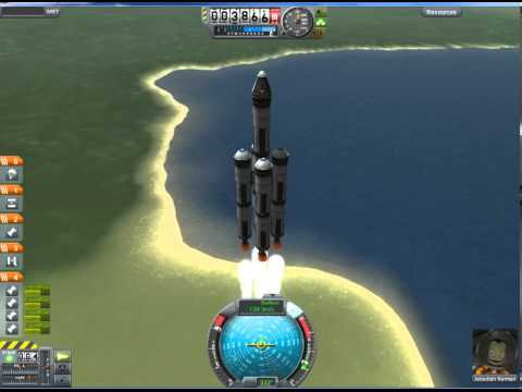 Kerbal Space Program (KSP) Tutorial: How to build a rocket and get it into orbit part 1