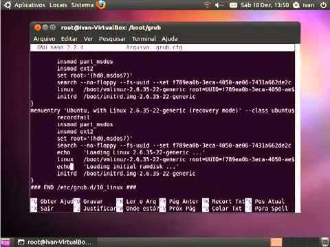 Configurando o Grub Ubuntu 1010 - YouTube.flv