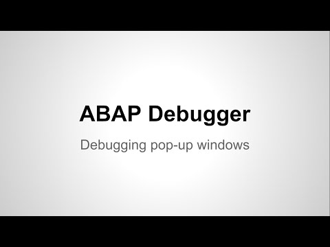 ABAP Debugger - Debug a Pop Up Window