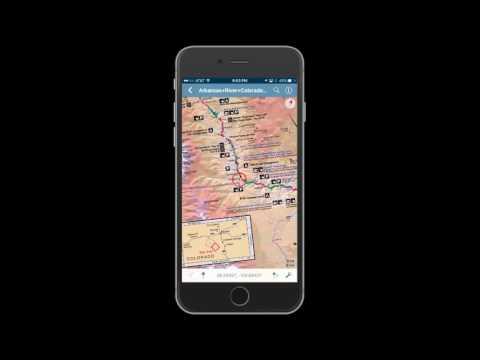 Lower Arkansas River Digital GPS Fishing Map