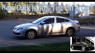 How Dark Is 30 Tint On A Car