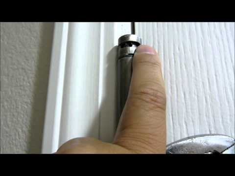 How to adjust self closing door hinge tension
