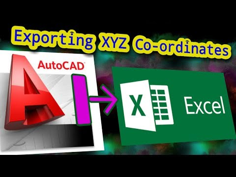 Export X Y Z coordinates from AutoCAD to Excel direct! [English]
