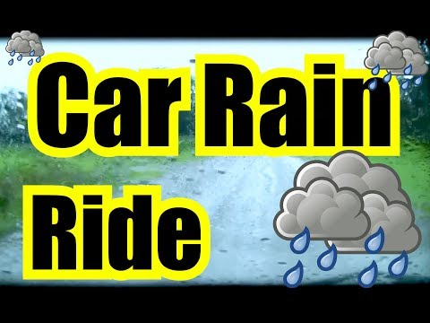 🚙 SLEEPING RAIN RIDE in the CAR ✪ 9 Hours Rain Sounds for Sleeping   RAIN GENERATOR   Rain Sounds