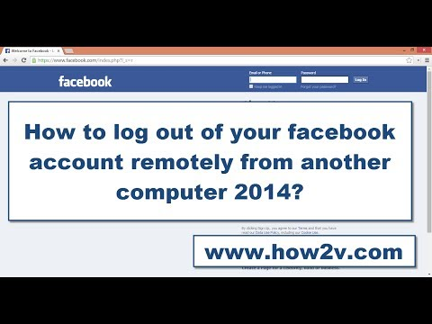 How to log out of your facebook account remotely from another computer 2014?