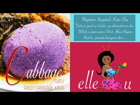 Red Cabbage Mash | Keto Fufu | Keto Receipes