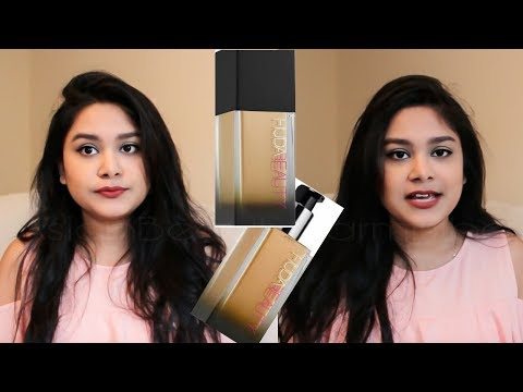 HUDA BEAUTY #FAUXFILTER #FOUNDATION #320G REVIEW + WEAR TEST On #Indian #SKIN #TONE #MakeupTutorial