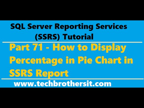 SSRS Tutorial 71 - How to Display Percentage in Pie Chart in SSRS Report