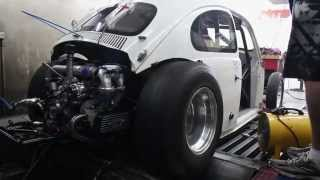 Troy's VW Drag Beetle, First Dyno Session