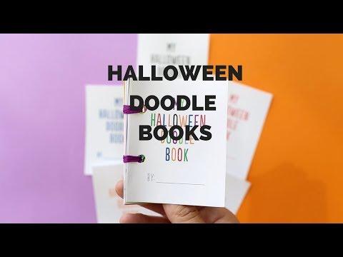 DIY Mini Halloween Doodle Books