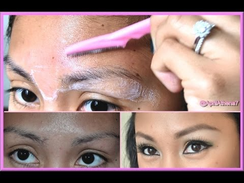 HOW TO USE A BROW RAZOR to ARCH, GROOM, SHAPE EYEBROWS!