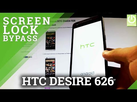 How to Hard Reset HTC Desire 626 - Remove Pattern and  Password Lock
