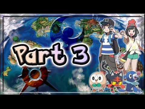 Pokemon Sun and Moon Walkthrough/Let's Play Part 3 - A Lab Down By the Sea (Fixed Audio)