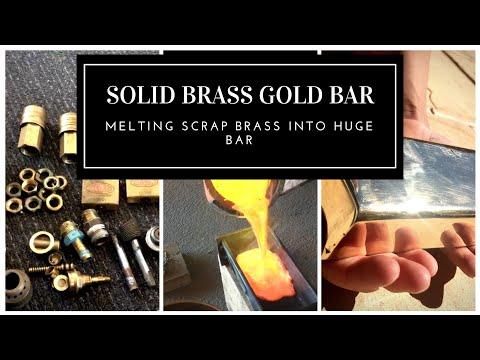 CASTING A HUGE GOLD BAR FROM SCRAP BRASS - Melting Brass