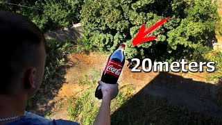 Amazing COCA COLA Experiment! The Magnus Effect!