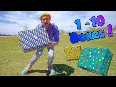 Xxx Mp4 Blippi Teaches Numbers 1 To 10 For Children Surprise Boxes 3gp Sex
