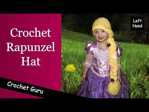 Crochet Rapunzel Hat Pattern - Crochet Hat Pattern (Left Hand)