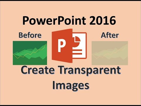 PowerPoint 2016 - Transparent Images to lighten Background in Microsoft Office 365 - Word and Excel