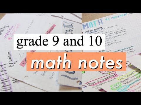 Grade 9 and 10 Math Notes Flipthough