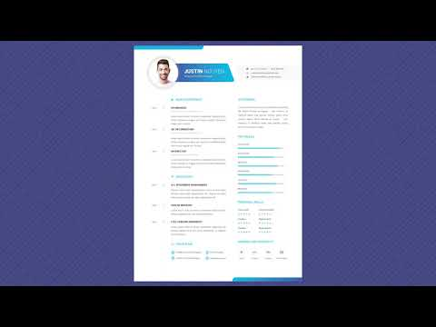 Free Professional Resume Template - Dynamic Youth