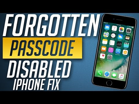 How to remove Forgotten Password from iPhone 8, 7 & 7 Plus | Unlock disabled iPhone