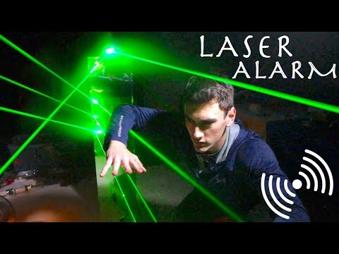 How To Easily Make a LASER TRIP-WIRE! (Mission Impossible Spy Laser Alarm System!!!)