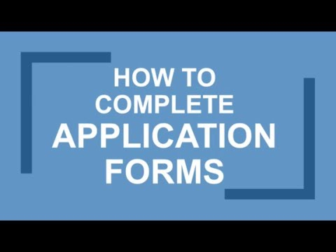 How to Fill in Job Application Forms - Career Help