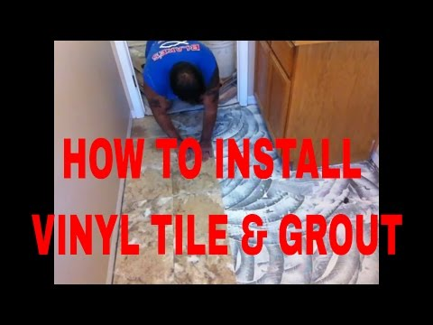 How To Install Vinyl Tile &Grout DuraCeramic Armstrong Right #DaveBlake Licesne Tile Conttractor