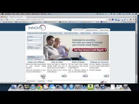 How do I get my Innovis credit report for free