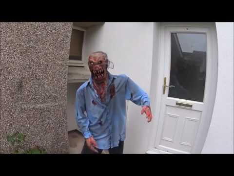Home made DIY animated zombie Halloween prop PART 2
