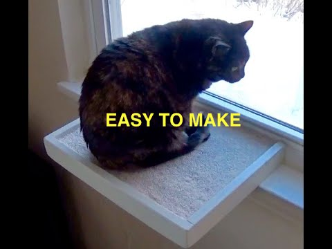 HOW TO MAKE A WINDOW CAT PERCH