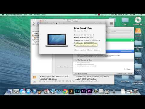 Part 2: Step By Step How to Clone an SSD With Mac Book Pro 13in 2009-2012