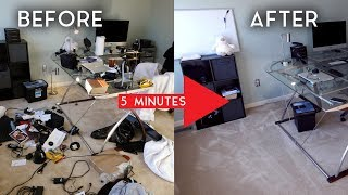"""How to: """"Completely"""" Clean Your Room in Only 5 Minutes!"""