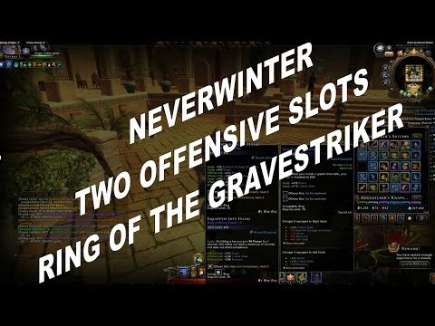 Neverwinter How To Get This Ring TWO OFFENSIVE SLOTS Ring Of The Gravestriker!