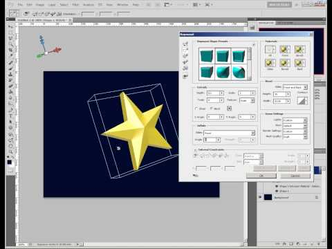 Photoshop tutorial: Create a Realistic 3D Golden Star