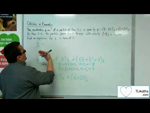 A-Level Maths 2017 Q4-10 Calculus in Kinematics: 2D Example 3