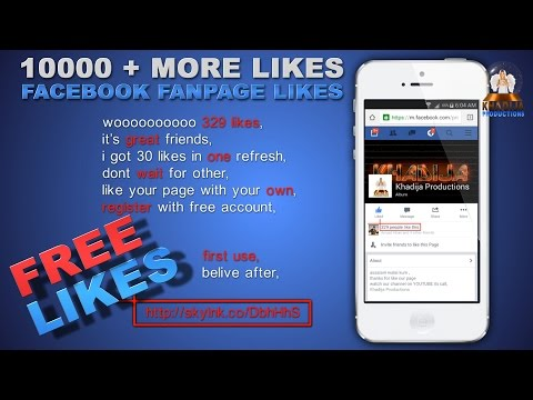 Facebook Fan Page 10000 + more real likes with your mobile | Mobile version | khadija productions