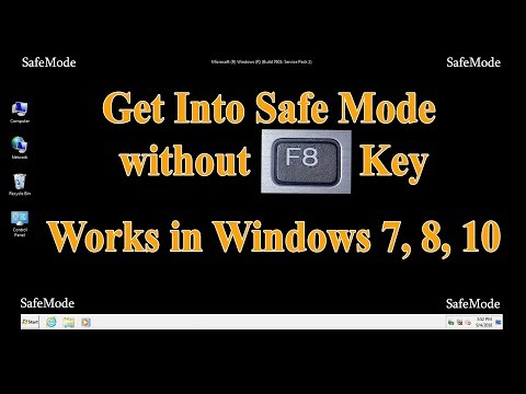 How to enter or start Windows 7, 8, 10 in Safe Mode when F8 key doesn't work using Command Line