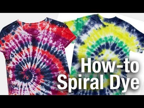 How-To Spiral Swirl Design Tie Dye Technique