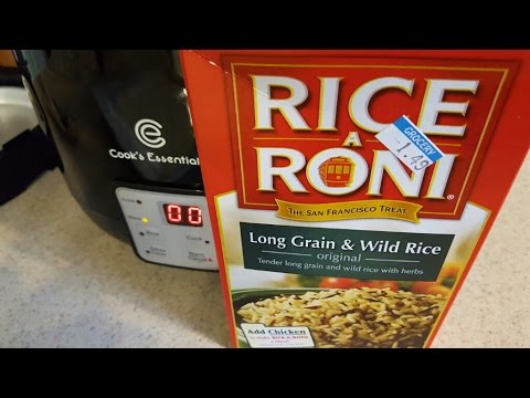 Rice a Roni boxed wild rice Cook's Essentials Digital Perfect Cooker