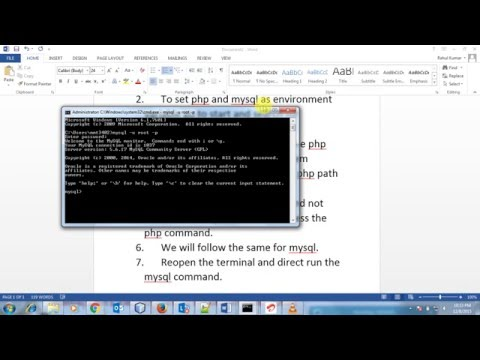 php mysql wamp global/environment variable Windows 7