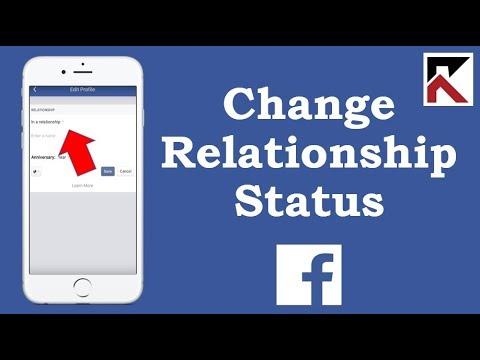 How To Change Relationship Status Facebook App 2018