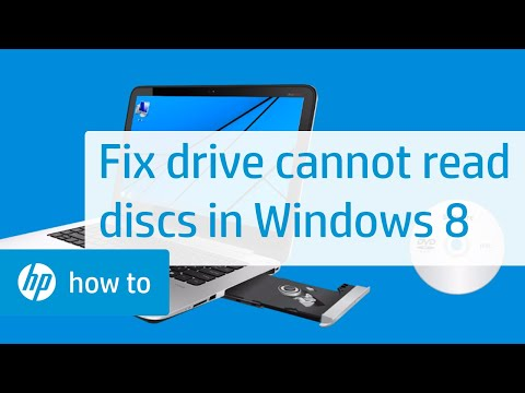 Drive Cannot Read Discs in Windows 8