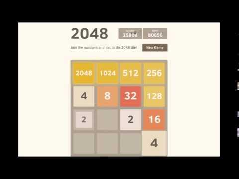 2048 highest score : 80k (full game: 8192 tile : 4096 + 2048 + 1024... so close!)