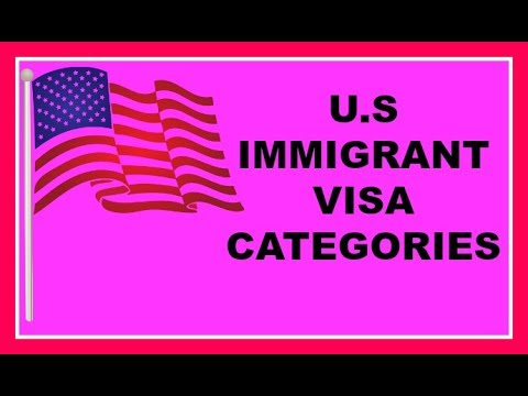 U.S. Immigrant Visa Categories