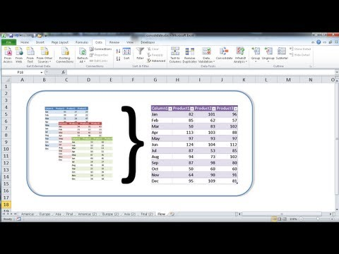 Use the Consolidate Feature to Combine Data